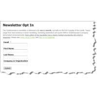 Create sign-up forms to engage with potential customers